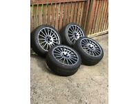 Focus RS ST OZ super turismo alloys and tyres