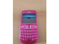 Nokia C3 Pink Mobile Phone