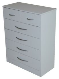 Kidsaw Arctic Hare White Chest of Drawer Units for Living Room or Bedroom