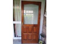 Solid Hardwood, double glazed door.