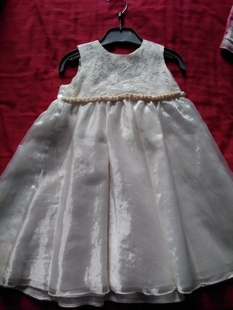 Pretty Ivory Bridesmaid Dress and Shoes
