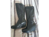 Angel Feet Leather Boots - Size 5