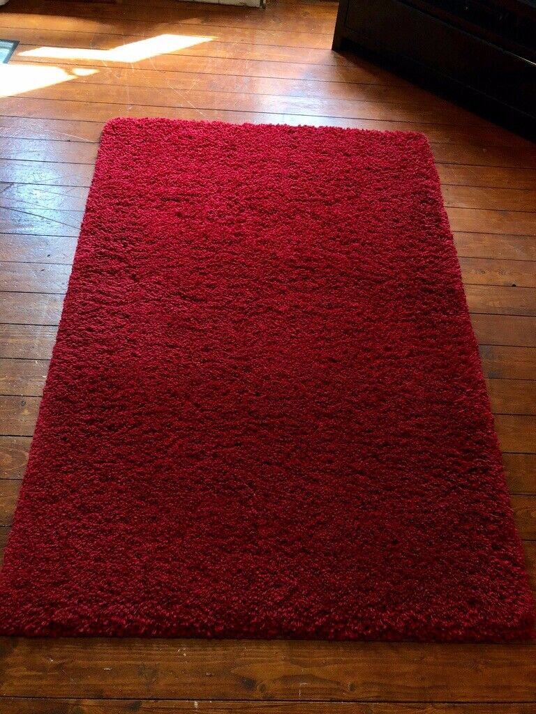Red Shaggy Rug by Ragolle 120 x 170 cm