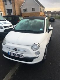 2014 Fiat 500 1.2 Cult Petrol 3DR PAN ROOF LOW MILEAGE