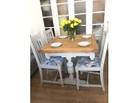 SHABBY CHIC TABLE+CHAIRS FREE DELIVERY LDN🇬🇧EXTENDABLE