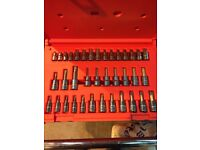 Snap on tools hex Allen torx set 3/8 1/4 brand new