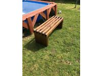 Unique Handmade Rustic Wooden Bench Solid 4ft Outdoor Indoor