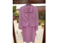 Pink 2 piece Mother of the Bride outfit. Dress and Jacket. Size 14