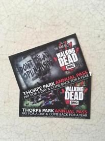 2 entry tickets to Thorpe Park