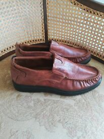 Tan mens leather shoes