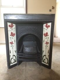 Cast Iron Fire/Fireplace complete with tiles
