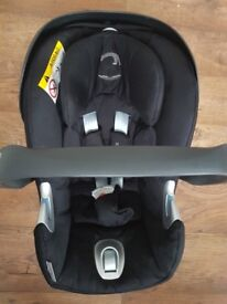 Cybex Aton Q Group 0+ Baby Car Seat, Stardust Black