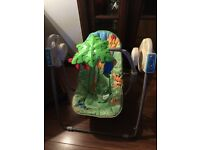 Fisher Price Rain Forest Swing, battery operated swing action and music
