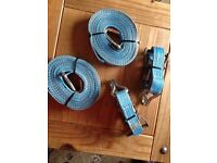 Pair of Heavy Duty Cargo Ratchets and Pair of 6 Metre Straps