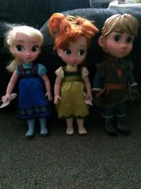 Frozen animation dolls