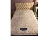 Double Divan bed with mattress and headboard, no storage