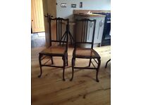 Beautiful dainty pair of chairs