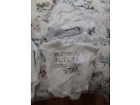 Baby clothes bundle for boys or girls, in neutral colours, 0-3 months, 21 items