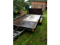 Car transporter tilt bed trailer