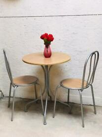Small kitchen dining table with two chairs