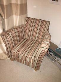 Homebase striped armchair