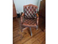 Cherterfield Leather Captains Chair