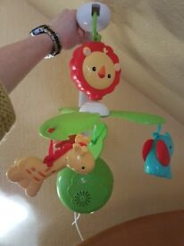 Brand new Fisher price musical cot mobile