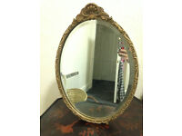 Antique/Vintage Mirror with Beveled Edge, Wood Gesso, Great Deal!