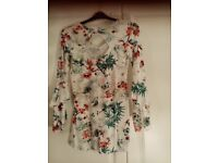 George White floral top