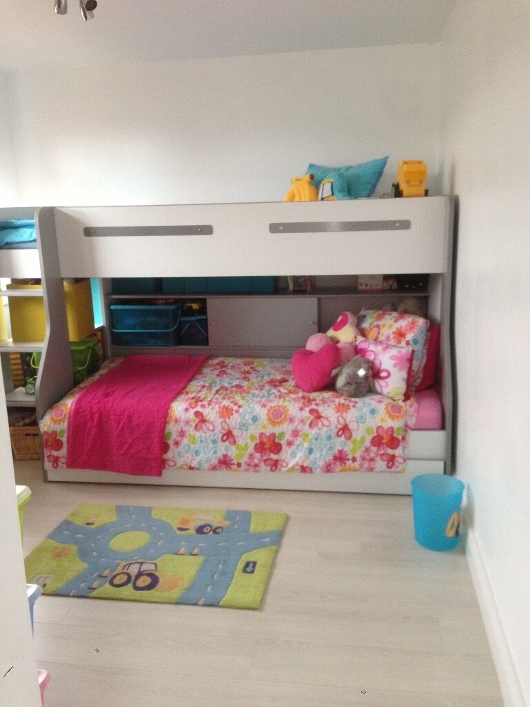 Bunk bed with an additional pull out plus storage! RRP799in Chesham, BuckinghamshireGumtree - Bunk bed with an additional pull out bed plus storage. (Mattress not included) Very good condition small scuff mark as displayed on picture. Please do not hesitate to contact me for any further details. Buyers will have to dismantle