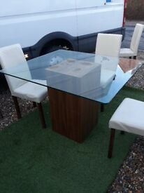 Glass top table for sale - used