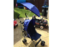 MAMA'S AND PAPA'S BABY / TODDLER BUGGY / STROLLER IN BLUE WITH ACCESSORIES