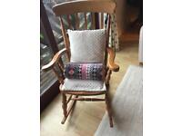 Lovely pine rocking chair