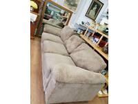 Large 3 seater biege sofa