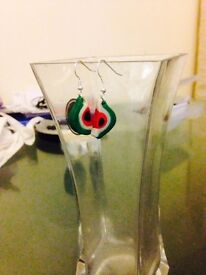 Beautiful hand made earring by me .