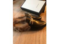 New Gucci Princetown leather slippers