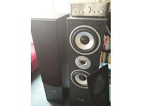Floor standing speakers (Hyundai L766) + Amplifier (Renkforce)