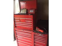 Snap On tool box, roll and side cabinet