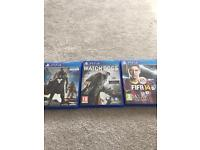 Play Station 4 Games - FIFA 14 and Destiny and watch Dogs