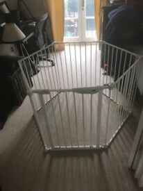 White metal playpen