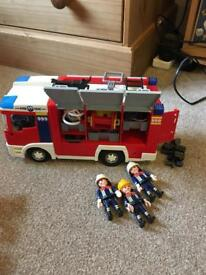 Playmobil fire engine set 4821