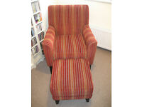 Next Oslo armchair and matching footstool