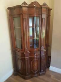 Oak wood show cabinet