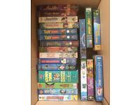 Free to collect 21 vhs kids films, disney, warner bros, universal, bbc