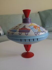 (Reduced Price) One large sturdy metal retro-inspired spinning top by Moulin Roty £5 Kennington SE11