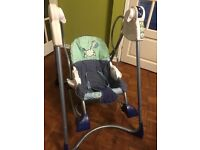 Fisher Price Smart Stages 3 in 1 Rocker Swing 3 stages of use . Fun useful baby item
