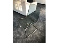 Dining Table and 4 Chairs. Chrome/Glass. Immaculate.