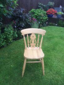 Pine farmhouse chairs x 6