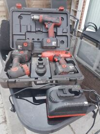 For sale snap on windie gun torch and drill in very good condition with 2 new batteries and chargers