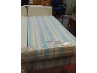 Duke single bed base with orthopeadic mattress (delivery available)